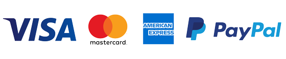 Visa, Mastercard, American Express and PayPal Accepted