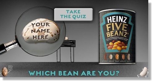 branded product marketing campaign - heinz quiz