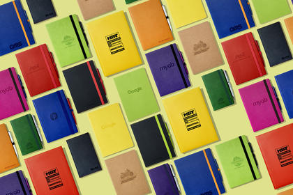 A5 Eco Recycled Leather Notebook