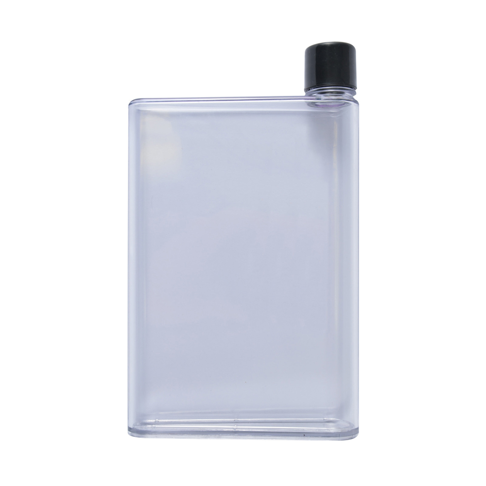 Flat Water Bottle >> Transparent Flat Drink Bottle 500ml Good Things