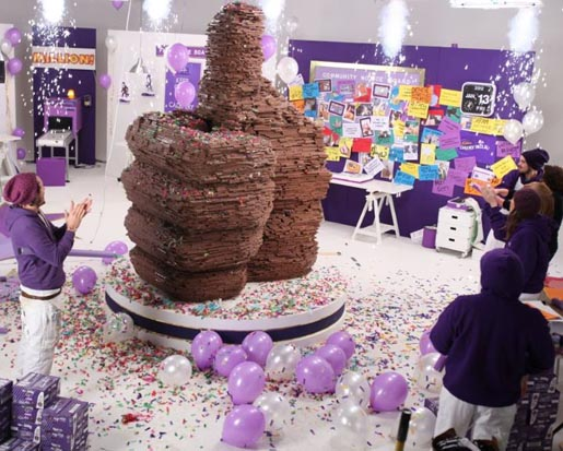 branded product marketing campaign - cadbury chocolate like button