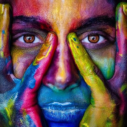how to increase brand awareness - painted face